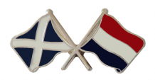Netherlands and Scotland Friendship Flag Pin Badge